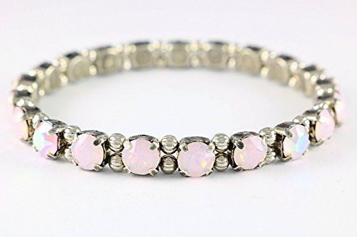 Powder Puff Crystal Opal Stretch Bracelet, A fashionable piece that you will grab in your accessory collection for years to come! Easy On, Easy (Stretch Puff)