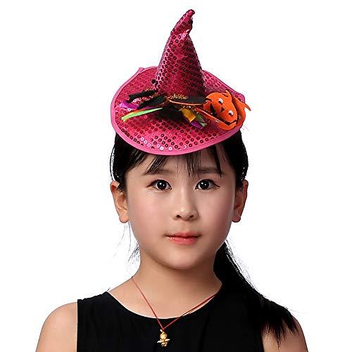 Children Halloween Hat Headband, Mini Pointy Pumpkin Witch Spider Hat,Hairband Accessories Cosplay Party Props Decoration -