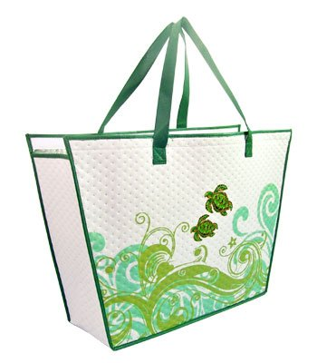 KC Hawaii Honu Swirl Large Insulated Tote Bag 20 X 14