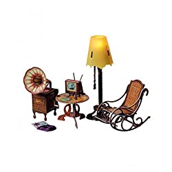 Clever Paper Floor Lamp and Home Decor Dollhouse Furniture Dolls Miniatures Model Kit (279)