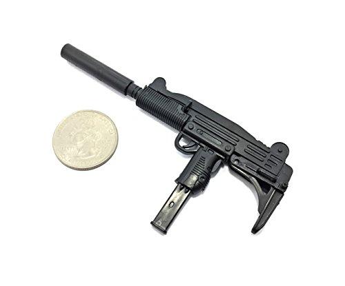 (1/6 Scale UZI Pistol Submachine Gun Israel Army Miniature Toy Guns Model Fit For 12