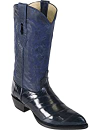 Mens Eel Skin J-Toe Boot