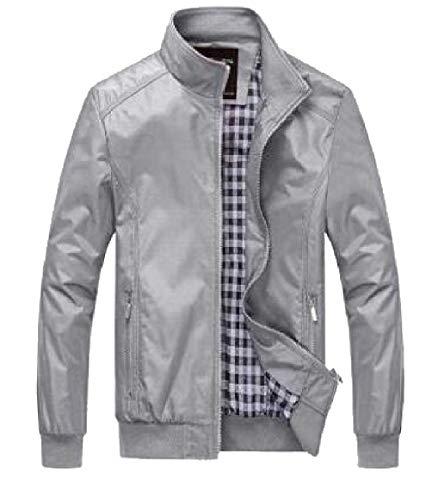 Bomber security Zipper Lightweight Gery Jacket Fit Windbreakers Men's Slim Casual 0qvwa6p