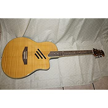 blue acoustic electric cutaway round back guitar musical instruments. Black Bedroom Furniture Sets. Home Design Ideas
