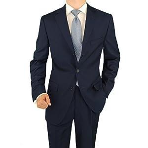 Salvatore Exte Men's Three Button 2 Piece Suit Pleated Pants