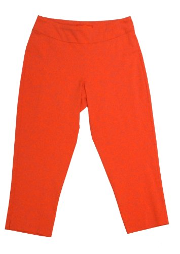 Krazy Larry Pull-on Cropped Pants (14, Tangerine) by Krazy Larry