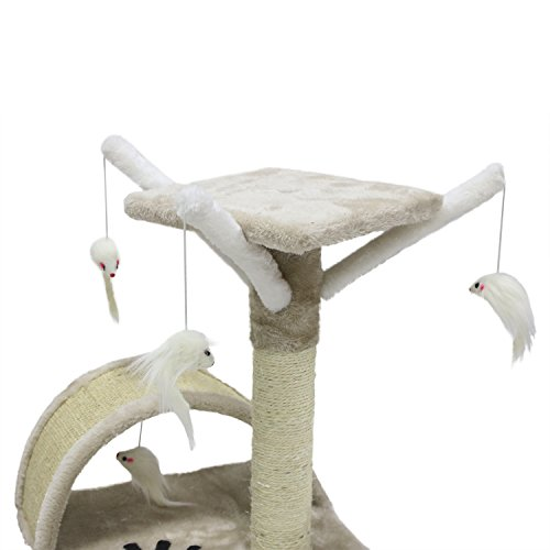 CUPETS-Pet-Products-Cat-Activity-Trees-Pet-Furniture-Toy-Bed-House-Cat-Perch-House-Cat-Tree-Scratcher-Beige