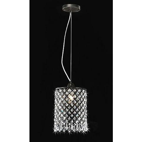 Antique black mini pendant 1 light round crystal chandelier antique black mini pendant 1 light round crystal chandelier aloadofball Gallery
