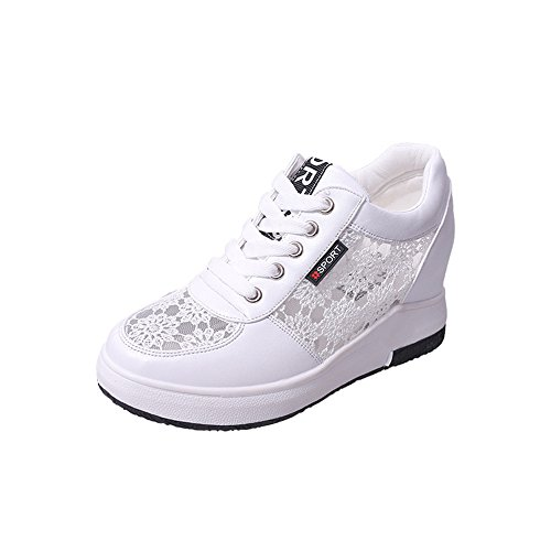 Sneaker Womens Canvas Cut White Dolwins Fashion Lace Popular Upper Mesh Knitted 2018 UPS Low qgpwFfn