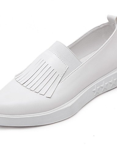 Casual white eu39 eu39 Negro eu39 cn40 de 5 gyht cn40 Zapatos 5 us8 us8 uk6 Cuero uk6 cn39 Blanco Plano us8 5 5 uk6 ZQ white Tacón white Planos mujer Puntiagudos FB8vfZf