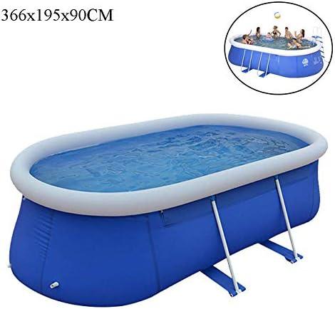 膨脹可能なプール、水泳センターの家族のプール、屋内と屋外の大容量の膨脹可能な楕円形のパドリングプール、肥厚した 環境保護PVC、366X195x90cm