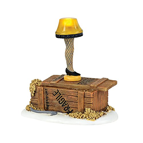 Department 56 Christmas Story Village Leg Lamp Lit Accessory Figurine, Multicolored ()