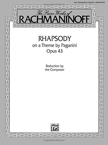 Rhapsody on a Theme by Paganini, Opus 43, for Two Pianos/Four Hands (Belwin Edition)
