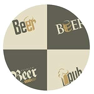 alfombrilla de ratón Conjunto de plantillas de diseño de logotipo de la cerveza - ronda - 20cm