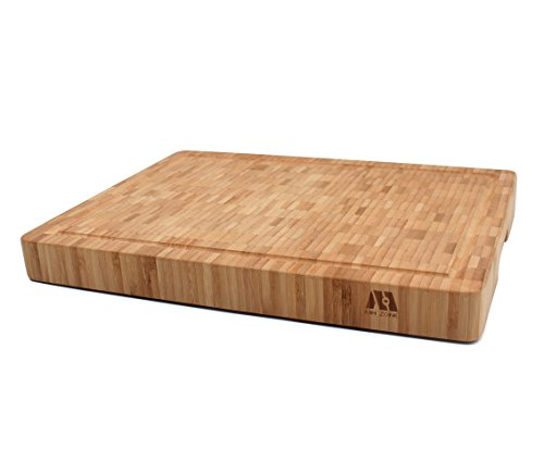 MH ZONE Large Thick [16' x 12' x 1.6'] End Grain Bamboo Cutting Board for Kitchen, Butcher Block |...