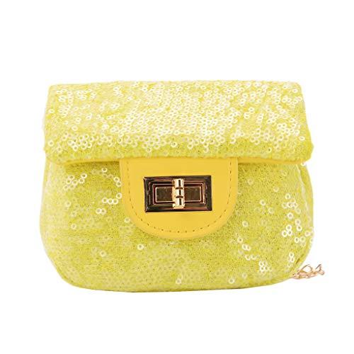 Pengy Girl Shoulder Bag Pure Color Sequins Crossbody Bag Children Shoulder Bags Purse Messenger Bag