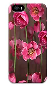 Brian114 iPhone 5S Case, iPhone 5S Cases - Creative 3D Design Pink Flower 11 Case for iPhone 5S, iPhone 5S 3D Print Ultra Fit Covers