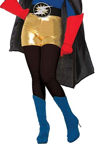Forum Novelties Unisex-Adult's Standard Hero Costume Shorts, Gold, Large]()