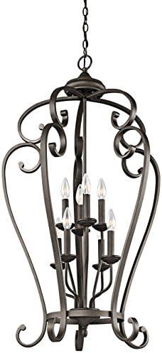 Kichler 43166OZ Monroe Chandelier, 8 Light Incandescent 480 Total Watts, Olde Bronze