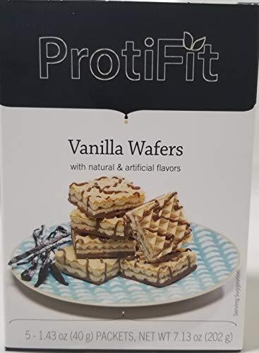 Proti Fit High Protein Wafer Bar – Vanilla (5 Servings/Box) – Trans Fat Free, Aspartame Free, Cholesterol Free