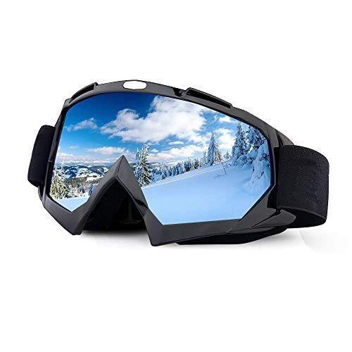 ThyWay Dustproof Outdoor Goggles for Motocross / Bike Riding Wind Skiing Winter Sports (Black)