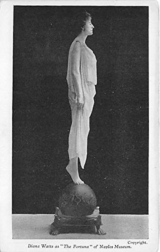 Diana Watts as The Fortuna of Naples Museum Theater Actor / Actress Postcard