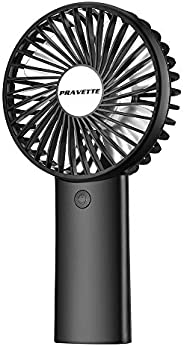 Personal Fan, PRAVETTE Portable Mini Handheld Fan with 4000mAH Rechargeable Batteries, 8-18 Hours Working Time