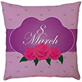 Decorative Pillow Covers Bedding Gusseted Quilted Pillow Soft Soild Square Throw Pillow Covers Set with Happy Mother's Day Premium Quality Bed Pillows (B)