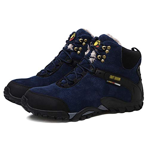 Boots Boots Boots Cotton High Nero Nero Nero Nero Boots Outdoor Caldo Snow Antiscivolo Help Blu E Hiking Velluto Shoes Blue Shoes Plus Mens JINGRONG Sports tFUqxZU