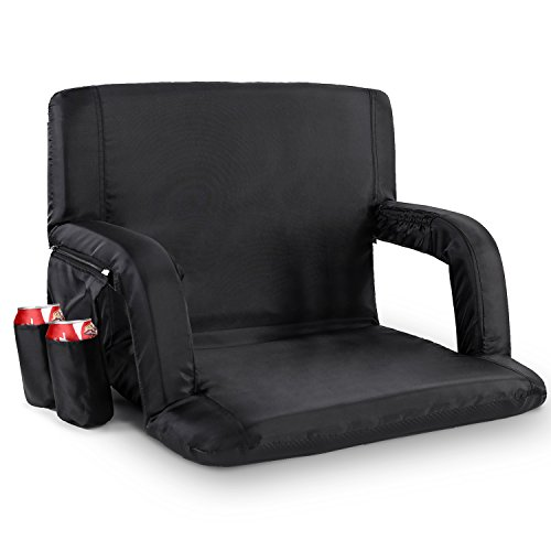 Sportneer Stadium Seats for Bleachers Portable Seat Chairs with Backs and Padded Cushion