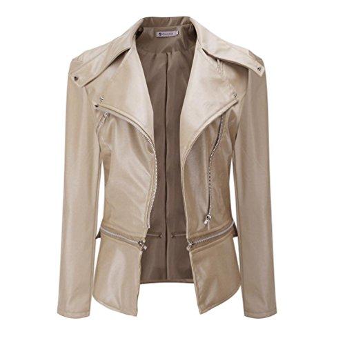 Leather Parka Coat - 7