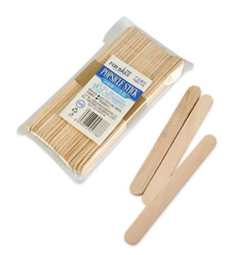 20 Pcs Ice Pop Sticks Natural Wood Popsicle Craft Sticks 3.6