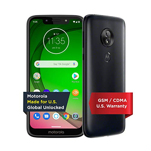 Moto G7 Play with Alexa Push-to-Talk - Unlocked - 32 GB - Deep Indigo (US Warranty) - Verizon, AT&T, T-Mobile, Sprint, Boost, Cricket, & Metro