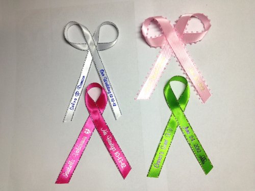 50 Personalized Printed Ribbon 1/4