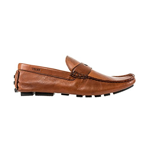 Leather mocs Driving Mens VELEZ 1018856 Genuine Honey de de Cuero Hombre Mocasines Colombian wqFSZf