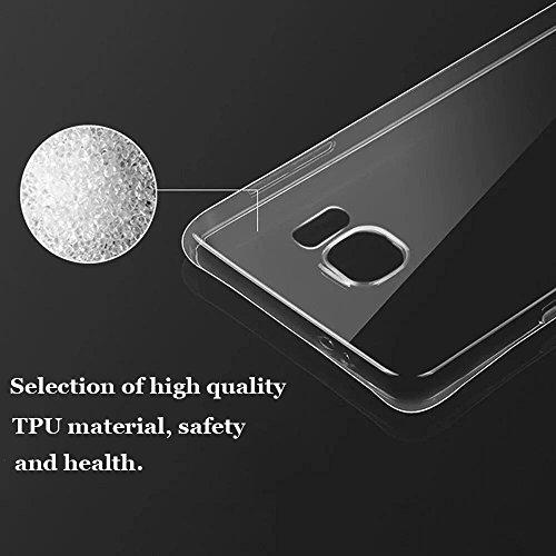 Vanki® Samsung Galaxy S6/S6 Edge Funda, Protectiva Carcasa de Silicona de gel TPU Transparente Ultra delgada Amortigua los golpes Case Cover Para Galaxy S6/S6 Edge 02