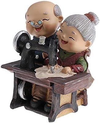 Amazon.es: non-brand Ornamento Navidad Cumpleaños Figuras Pareja ...