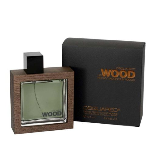 Dsquared2 He Wood Rocky Mountain Eau de Toilette Spray for Men, 3.4 (Brands 3.4 Ounce Edt)