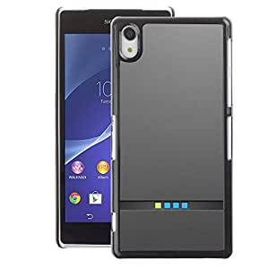 A-type Arte & diseño plástico duro Fundas Cover Cubre Hard Case Cover para Sony Xperia Z2 (Computer Minimalist Lights Metal Brushed)