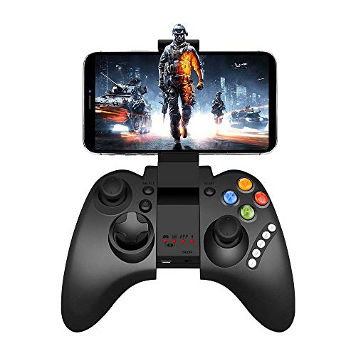 Mobile Game Controller, Mutop PG-9021 Mobile Gaming Wireless Bluetooth Controller Gamepad Joystick Supports Android 3.2 Above PC/System (PG-9021) (Best Controller Supported Android Games)