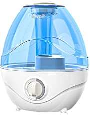 LEVOIT Humidifier for Bedroom, Cool Mist Humidifiers for Baby Nursery, Air Humidifier with Night Light, BPA Free, Quiet, Up to 24h, Filterless, 2.4L