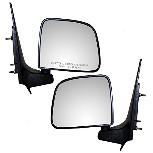 Driver and Passenger Manual Side View Mirrors Replacement for Ford Mazda Pickup Truck ZZP069180 ()