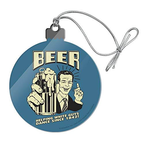 GRAPHICS & MORE Beer Helping White Guys Dance Since 1842 Funny Humor Retro Acrylic Christmas Tree Holiday Ornament