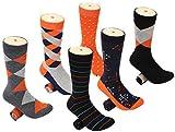 Mio Marino Mens Dress Socks - Funky Colorful Socks for Men - 6 Pack