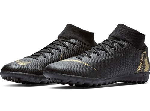 Nike Men's SuperflyX 6 Academy Artificial-Turf Soccer Shoes (11) Black/Gold