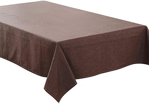 Mantel (lino y algodón impermeable color sólido funda para mesa ...