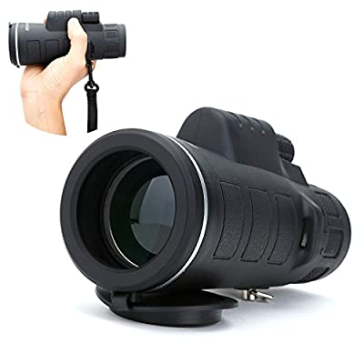 Yahill® 35x50 Waterproof Monotonous High Powered Night Vision Wide Angle Glimmer Monocular with Hand Strap from Yahill