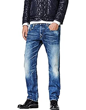 Men's Attacc Straight Leg Jean In Baum Denim Medium Aged
