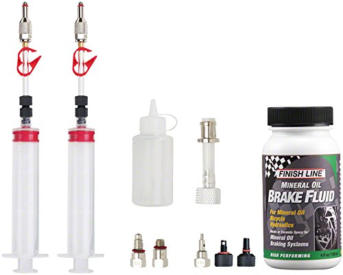 Jagwire Pro Mineral Oil Bleed Kit Includes Shimano Magura Tektro Giant Adaptors
