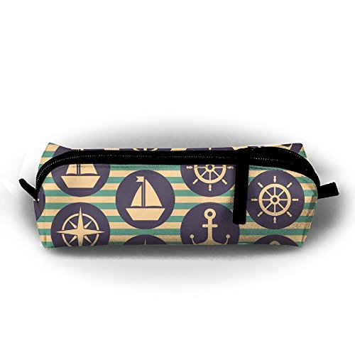 Wheel Key Steering Holder (JISOAPJ Nautical With Steering Wheels Simple Oxford Cloth Bag, Pencil Case With Daily Necessities, Can Be Filled With Cosmetic Bags)